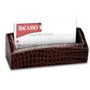 Dacasso 2000 Series Crocodile Embossed Leather Business Card Holder in Brown