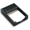 Dacasso 2000 Series Crocodile Embossed Leather 4 x 6 Memo Holder in Black