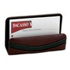 Dacasso 7000 Series Contemporary Leather Business Card Holder in Burgundy