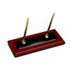 Dacasso 8000 Series Rosewood and Leather Double Pen Stand