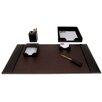 Dacasso 1400 Series Econo-Line Leather Six-Piece Desk Set in Brown