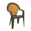 Grosfillex Commercial Resin Furniture Amazona Stacking Dining Arm Chair (Set of 4)