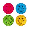 Jillson & Roberts Bulk Roll Prismatic Mini Happy Face Sticker