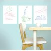 WallCandy Arts Whiteboard Wall Decal (Set of 3)