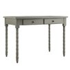 Topline Furniture Aiden Writing Desk with Helix Legs