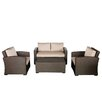 Creative Living South Seas Loveseat 4 Piece Seating Group with Cushions