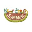 """Blossom Bucket """"Never Enough Summer"""" Letter Block On Watermelon (Set of 2)"""