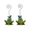Blossom Bucket Frogs Figurine with Bluebirds Note Holders (Set of 4)