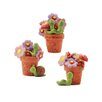 Blossom Bucket 3 Piece Flower Pots with Worms and Snails Sculpture Set (Set of 2)
