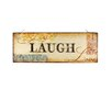 "Blossom Bucket Decorative ""Live Laugh Love"" Wall Sign with LED Light (Set of 2)"
