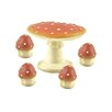 Blossom Bucket 5 Piece Decorative Mushroom Table and Chair Set (Set of 2)