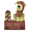 "Blossom Bucket ""Christ mutts"" Block with Dog Figurine (Set of 4)"