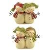 Blossom Bucket 2 Piece Snowman Couples Figurine Set (Set of 2)