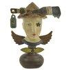 Blossom Bucket Decorative Head on Round Base Sculpture (Set of 2)