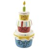 Blossom Bucket Decorative 'Enjoy Your Day!' Cake with Candle (Set of 4)