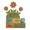 Blossom Bucket 'Aunt..Best' with Flowers Letter Blocks (Set of 2)