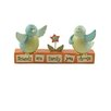 Blossom Bucket 'Friends Are Family' Block with Birds (Set of 2)