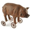 Blossom Bucket Pig on Wheels Figurine (Set of 2)