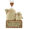 Blossom Bucket Being A Grandma with Ghosts Block Figurine (Set of 4)