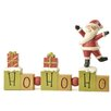 Blossom Bucket Ho Ho Ho Beads Block with Santa Figurine (Set of 2)