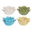 Three Hands Flower Ceramic Votive (Set of 4)