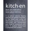 Evive Designs 'Kitchen' by Susan Newberry Textual Art in Black and White