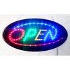 """DSD Group 10"""" x 19"""" Animated Motion LED Oval Open Sign"""