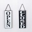 Adams & Co 2 Piece Open/Closed Double Sided Sign Wall Décor Set