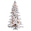 Sterling Inc. 9' Heavy Layered Spruce Christmas Tree with 750 Clear Lights with Flocked and Stand
