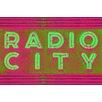 Fluorescent Palace Radio Radio Neon Mix Graphic Art on Canvas