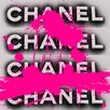 Fluorescent Palace Fashion Forward Pink Graphic Art on Canvas