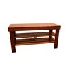 ORE Furniture Solid Wood Shoe Organizer Bench