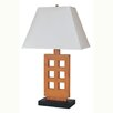"ORE Furniture Wooden 30"" H Table Lamp with Empire Shade"