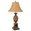 """ORE Furniture Pineapple 33"""" H Table Lamp with Bell Shade"""