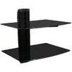 Mount-it Wall Mounted AV Component Shelving System with 2 Adjustable Tempered Glass Shelves