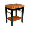 John Boos Rouge et Noir Prep Table with Butcher Block Top