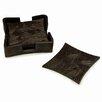 Natori Wood Grain 4 Piece Coaster Set