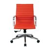 OSP Furniture Mid-Back Leather Conference Chair with Arms