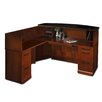 Mayline Group Sorrento Series L-Shape Reception Desk with Marble Counter