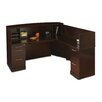 Mayline Group Sorrento Series L-Shape Reception Desk with Veneer Counter