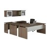 Mayline Group Media Computer Desk with Non-Handed Bridge and Hutch