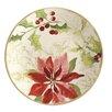 Paula Deen Signature Holiday Floral Salad Plate (Set of 4)