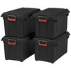 Iris 21.8 Gallon Weathertight Heavy Duty Storage Tote (Set of 4)