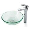 """Kraus 14"""" Vessel Sink and Visio Bathroom Faucet"""
