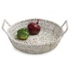 Woodard & Charles Carribbean Accents Round Tray w/ Handles