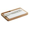 Woodard & Charles Elan Oak Cheese Board w/ Ceramic Insert and Knife