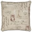 Eastern Accents French Country Postage Stamp Throw Pillow