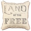 Eastern Accents Americana Land of the Free Throw Pillow