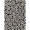 Chandra Rugs Davin Black & White Geometric Area Rug