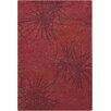 Chandra Rugs Seedling Patterned Rectangular Contemporary Designer Red/Burgundy Area Rug